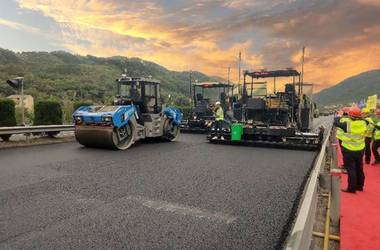 SANY asphalt paver and tandem roller China